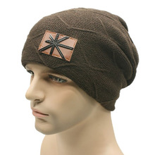 High quality warm caps fashionable meters flag labels woolen hats cap for men and women in autumn and winter knitted.