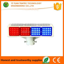 LED Emergency Flashing double colour portable solar traffic light