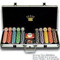 500pcs Poker Chip Set in Aluminum Case