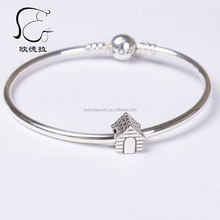 925 sterling silver diamond charm for europe fashion bracelet