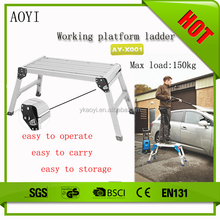 Lightweight and strong folding good quality household 2 step folding ladder used car wash equipment