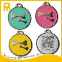 2015 wholesale laser engraved qr code pet tag products for dog collar