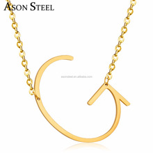Gold personalized monogram G alphabet Letter pendant choker charm necklaces bisuteria