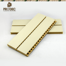 Decorative sound insulation wooden mdf slotted acoustic panel acoustic room