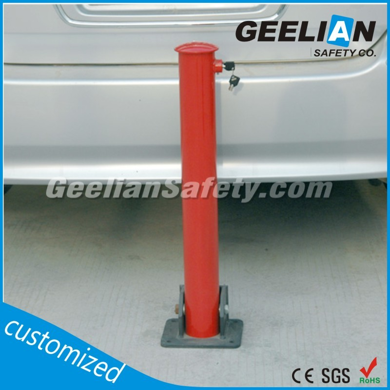 Black Yellow Finish High Visibility Protection Impact bollards