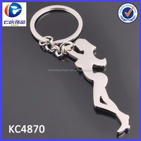 Hot Sexy Open Women Bottle Opener Metal Key Chain