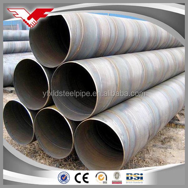 Alibaba export high quality low price large OD welded spiral steel pipe