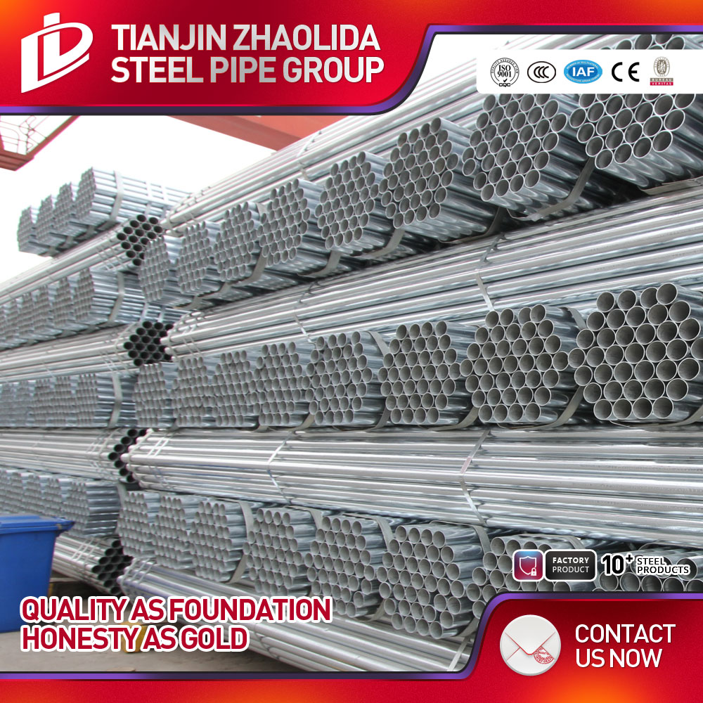 Zhaolida Brand thin wall galvanized steel pipe In time delivery