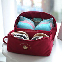 Travel Zippered Delicate Polyester Material Custom LOGO Lingerie Laundry Pouch Bra Bag