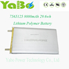 3.7v lipo battery 8000mah lithium polymer battery for power bank laptop pc rc model electric toys