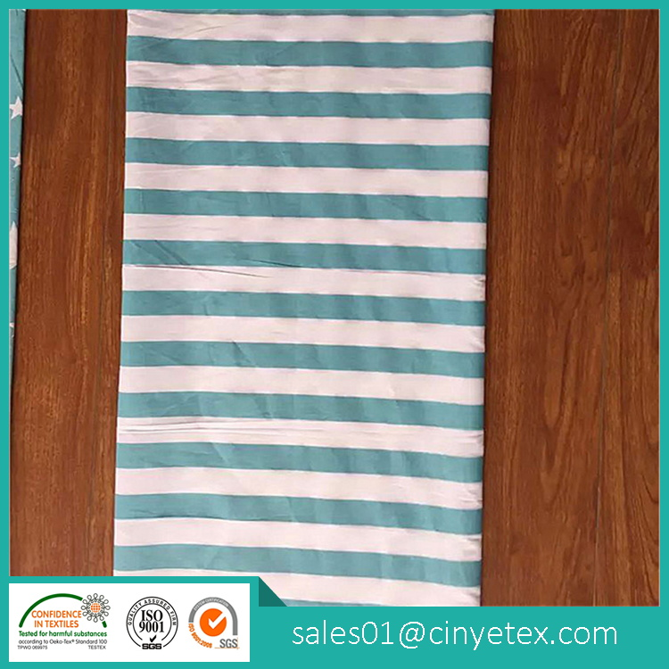 100% cotton fabric printed stripe style for bedding