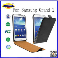 Ultra Thin Slim Flip Leather Case for Samsung Grand 2,for Samsung Grand 2 Vertical Folio Cover Laudtec