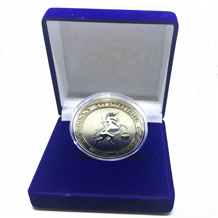 custom made metal commemorative personalized gold plated coin