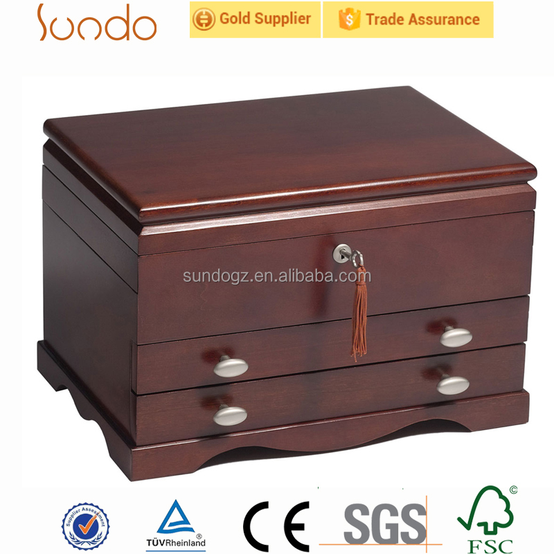 solid wood unique jewelry gift boxes good manufacturing