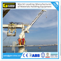 Hydraulic telescopic boom marine crane with ABS BV CCS certificate