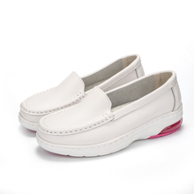 white leather wholesale nurse shoes and safety shoes for hospital