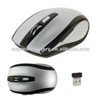 For PC Laptop Notebook Micro USB 2.4Ghz Wireless Optical Mouse JC7000 Silver