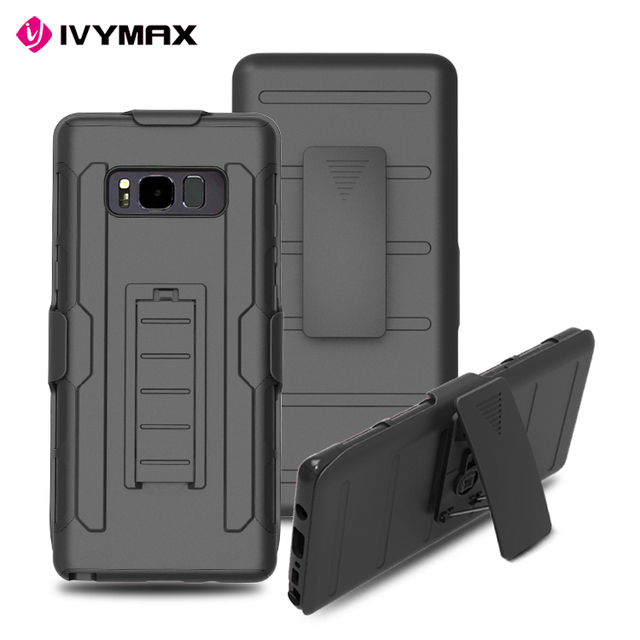 IVYMAX heavy duty protective mobile cell phone case back cover for samsung galaxy note 8 kickstand case cover