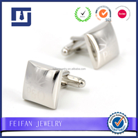 Promotion gifts polishing customized laser metal cufflinks