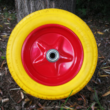 Colorful Flat free 3.50-8 PU Foam Wheel