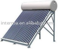 Paint steel solar energy water heating system