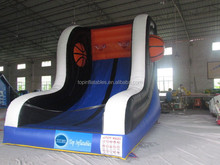 Easy taking inflatable pvc ball rack , basketball stand for kids