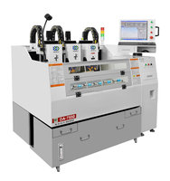 Factory DA-7550 5 axis high precision glass acrylic pc pet pvc grinding chamfering drilling CNC carved engraving milling machine