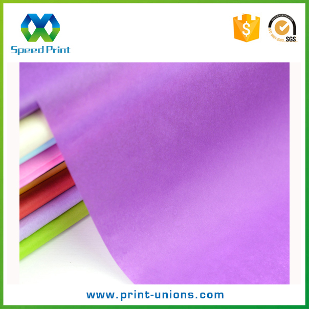 Purple color organic tissue <strong>paper</strong> custom logo tissue <strong>paper</strong> fujian