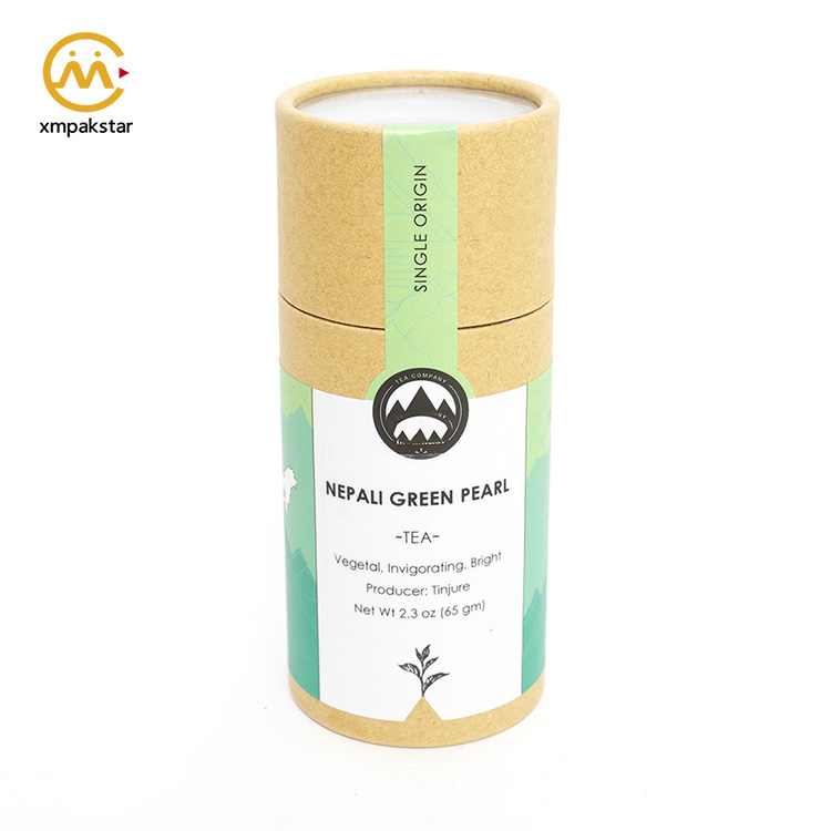 Colorful printed  round shape recycled ecofriendly premium Kraft paper tube packaging