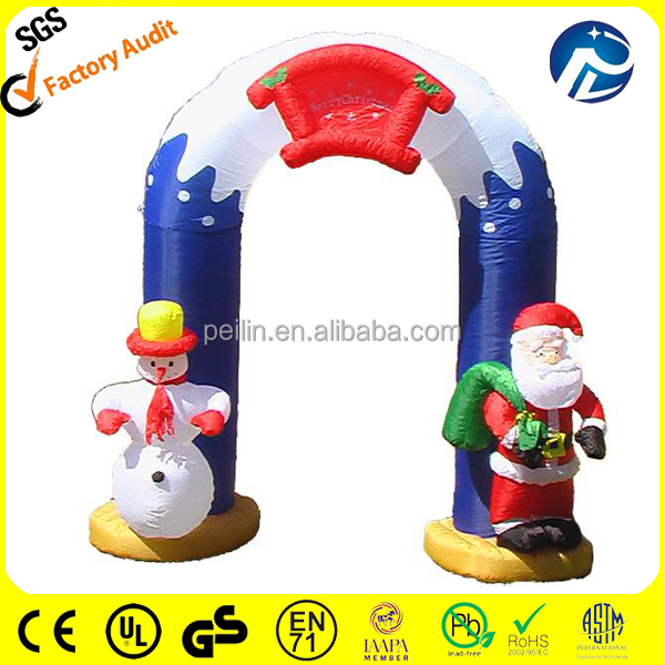Airblower Christmas inflatable archway, inflatable stockings with gifts archway