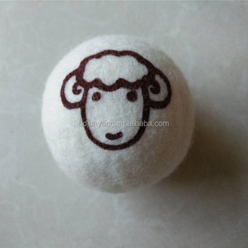 Eco laundry dryer balls by smart sheep 6-pack 6cm wool felt ball 100% organic felt dryer balls