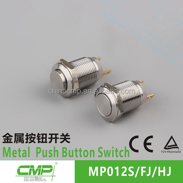 CMP waterproof anti-vandal round push button flat micro switch