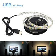 5V 50cm 1m 2m 3m 4m 5m USB LED strip light USB charger adapter LED light USB Cable Holiday Decor lamp PC LCD TV Background light
