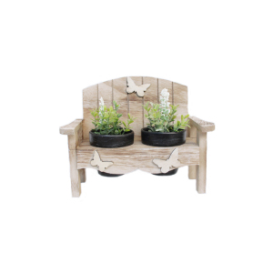 New design natural wooden chair indoor decorative plant terracotta flower pot