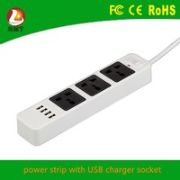 extension lead box outlet power socket extension cube with 4 usb port