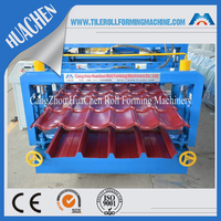 Two Profile Decorative Metal Color Roof Tile Forming Machine