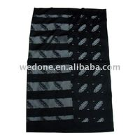 Black Jacquard Head Scarf Square For