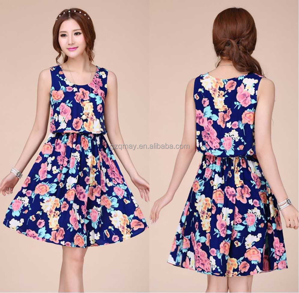 Latest Fashion Top Quality 100 Cotton Dresses for Women/wholesale Philippines Manufacturer Clothing/Summer Dress Design Patterns