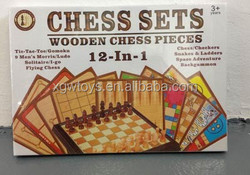12in1 Wooden Chess Set Board Game