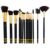 Beauty Elegant Black Bling 15 Piece Professional Makeup Brush Set
