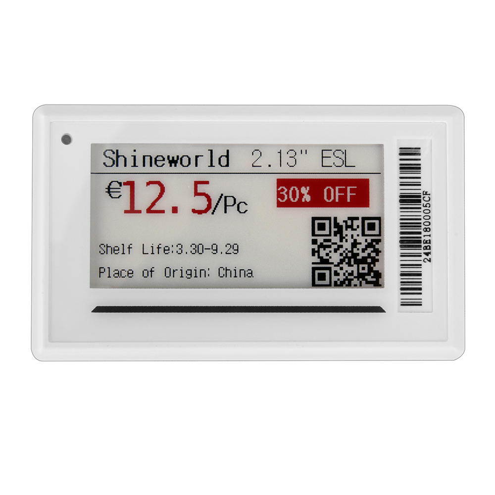 2.13 inch ESL E Paper Shelf Labels with Access Point Bluetooth Signal Device Prizemarker