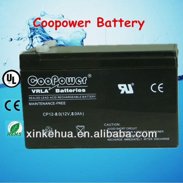 Rechargeable SLA/VRLA battery 12V8Ah for toys car