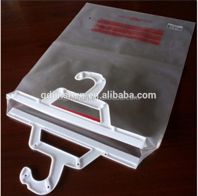 Daily Use Zip Lock Hook Hanging Plastic Storage Bag For book