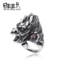 US Size 8-13 New Arrival! Stainless Steel Man's High Quality Dragon Ball Ring For Men Exclusive Sale Jewelry BR8-118