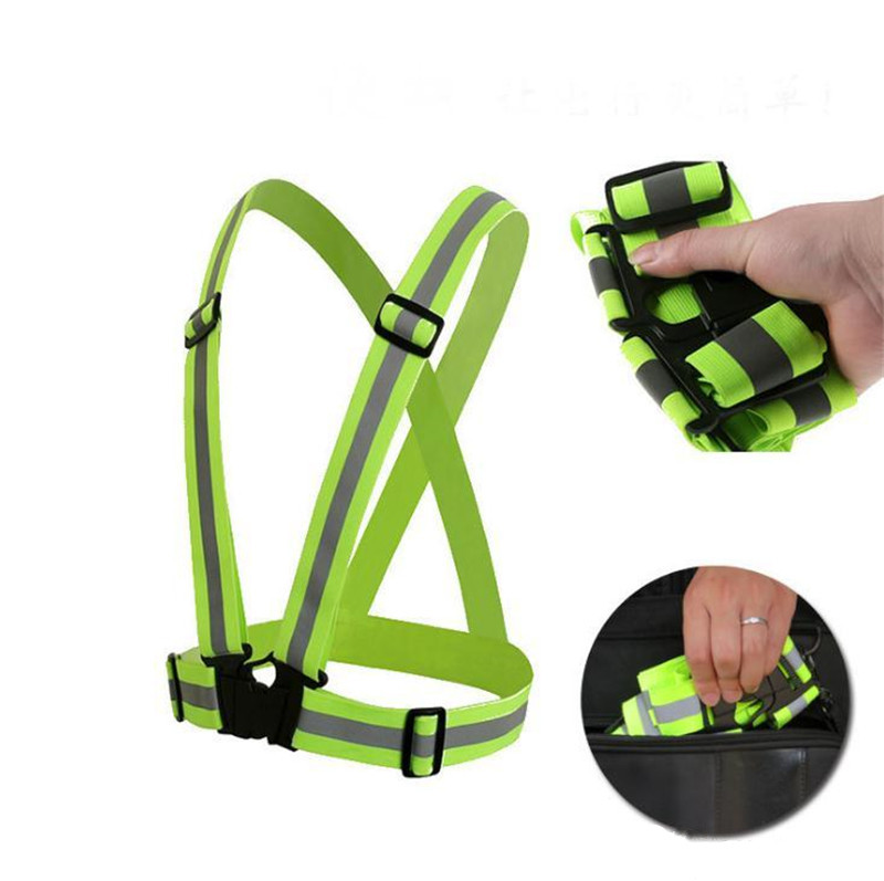 Safe Reflective Elastic Vest Belt Outdoors Night Running Biking <strong>Safety</strong> Simple Portable Band