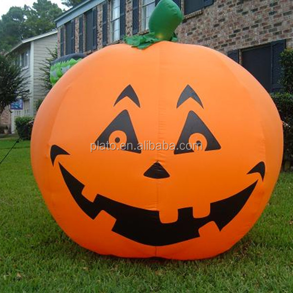 Halloween decorative inflatable pumpkin, inflatable yard pumpkin light decoration
