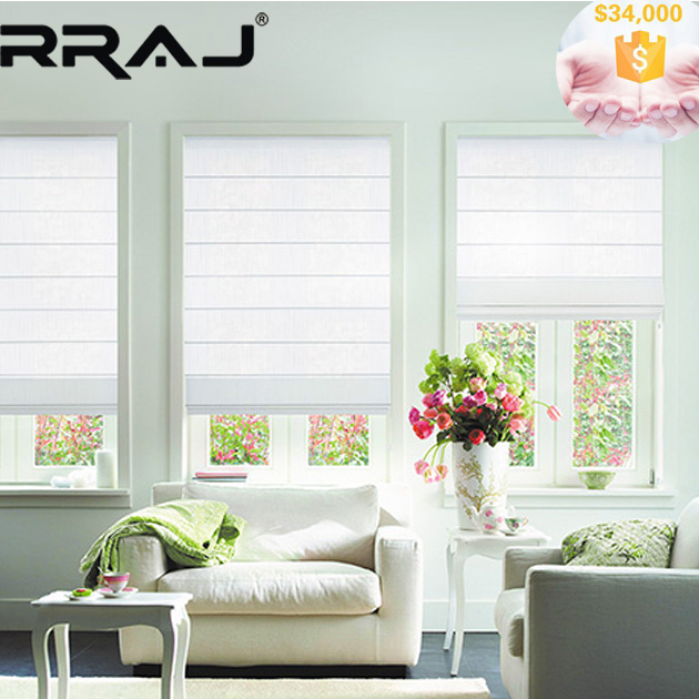 RRAJ Remote Control Roman Blinds in Blackout Fabrics