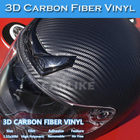 CARLIKE 3M Air Bubble Free Black 3D Carbon Fiber Car Vinyl Wrap