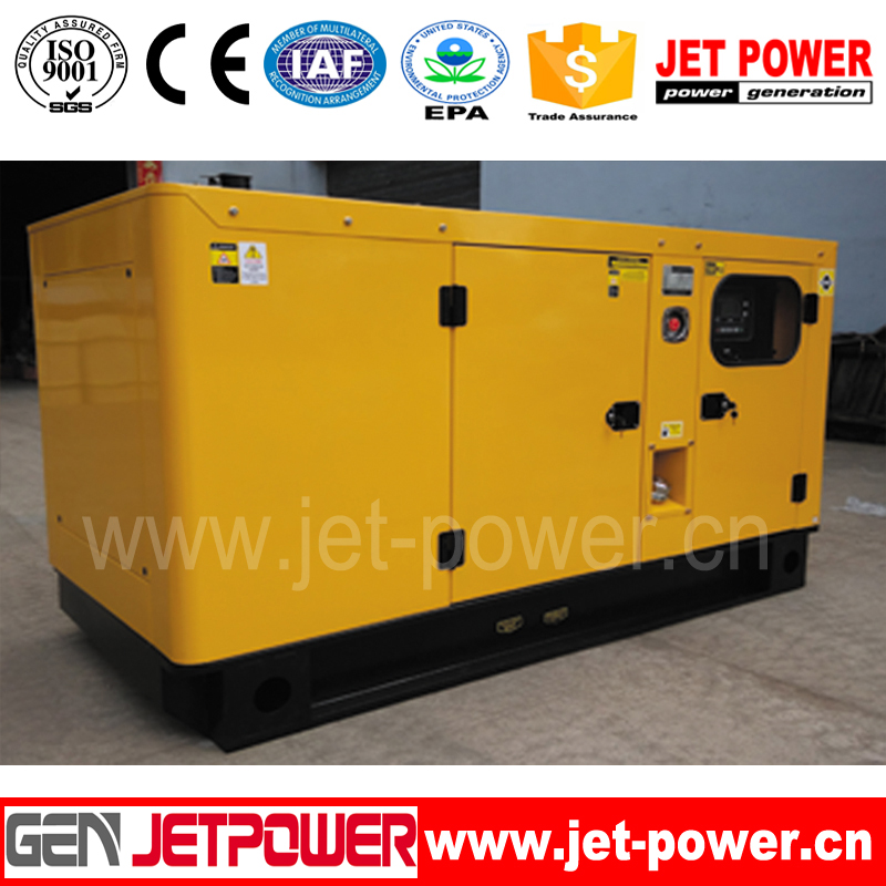 30KW silent canopy dynamic diesel generator set powered by 30kw china electric engine