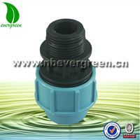 PE compression fittings round tube male coupling